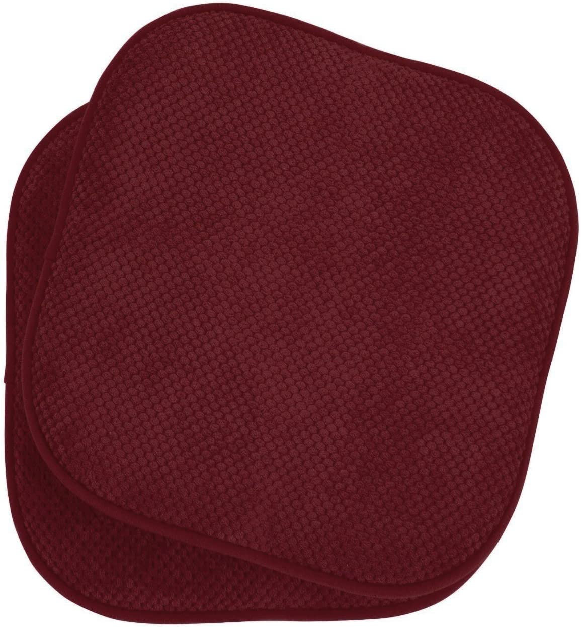 Assorted Colors Country Burgundy GoodGram 4 Pack Non Slip Ultra Soft Chenille Premium Comfort Memory Foam Chair Pads//Cushions