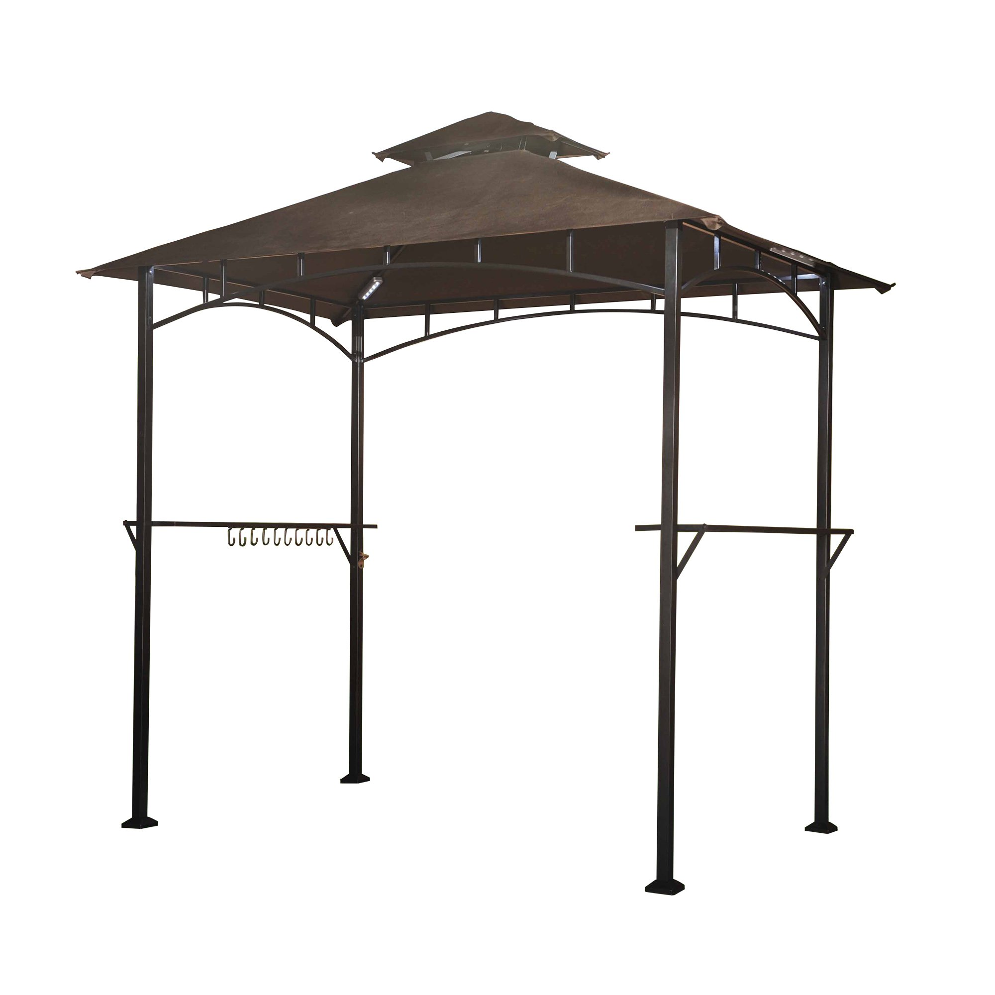 Sunjoy 8'x 5' Soft Top Grill Gazebo with 4pcs LED