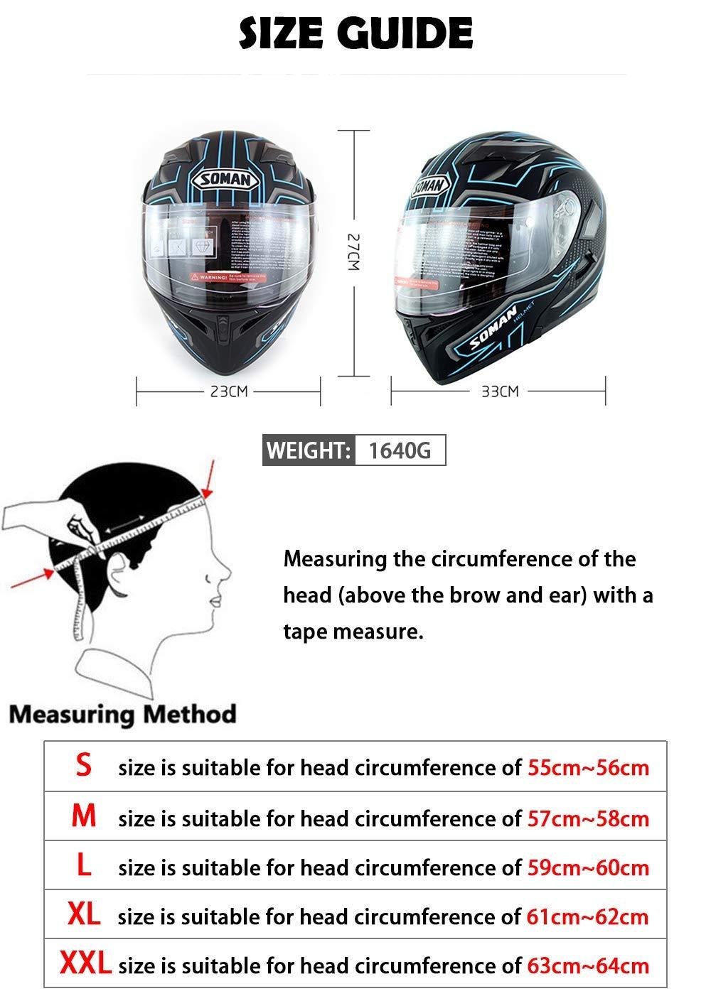 MIANCY-Outdoor Casco de Motocicleta Modular Moto Bluetooth Flip Up ...