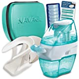 Navage Nasal Irrigation Deluxe Bundle: Naväge Nose Cleaner, 48 SaltPod Capsules, Countertop Caddy, and Travel Case. 162…