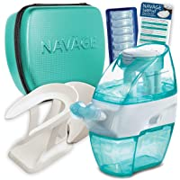 Navage Nasal Irrigation Deluxe Bundle: Naväge Nose Cleaner, 48 SaltPod Capsules, Countertop Caddy, and Travel Case. 162.75 if purchased separately. You save 52.80 (32%)(Teal)