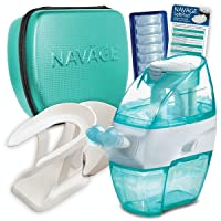 Navage Nasal Care Deluxe Bundle: Navage Nose Cleaner, 40 SaltPod Capsules, Countertop...