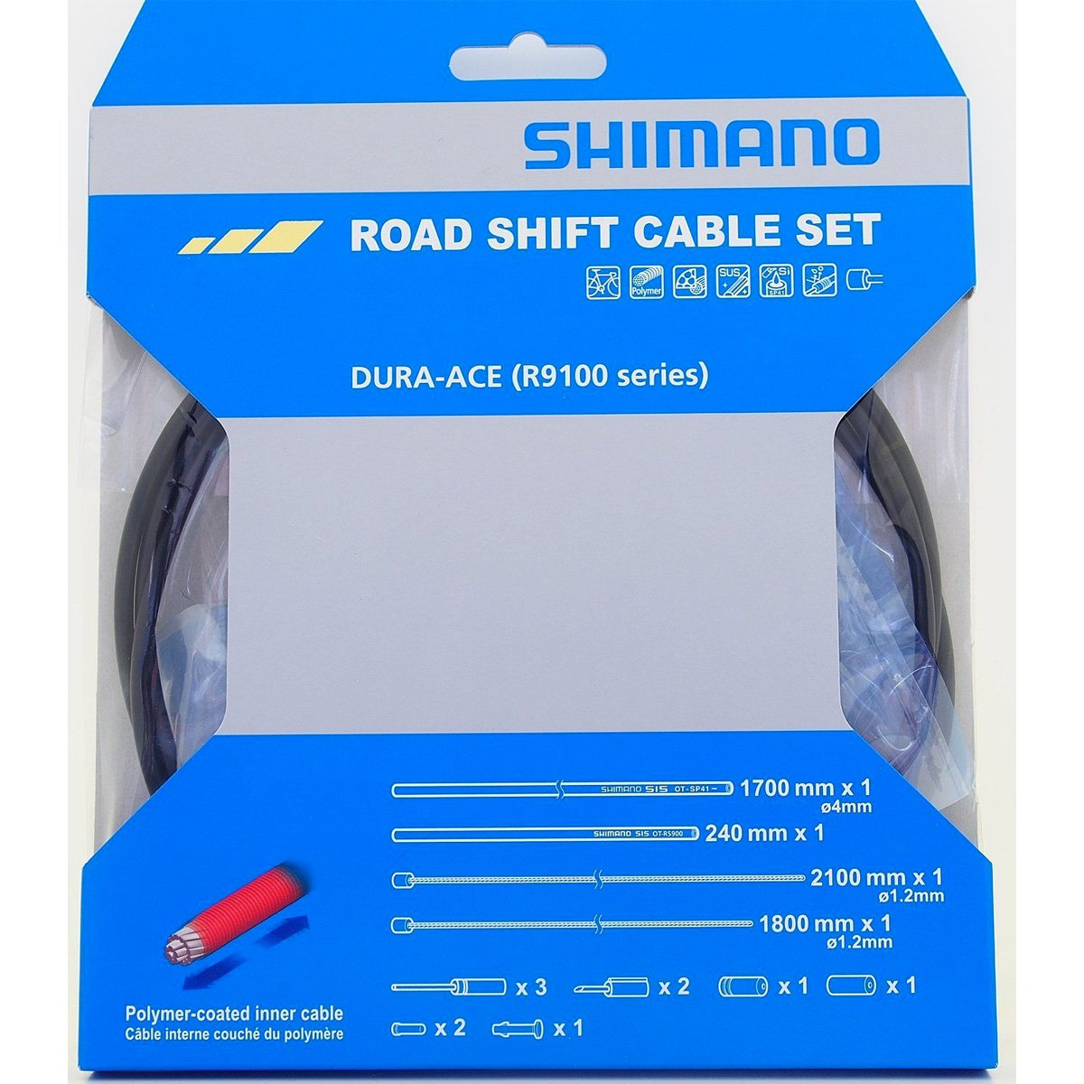 Shimano ot-sp41 rs900ロード自転車シフトケーブルセット B06W9KF8BG One Size ブラック ブラック One Size