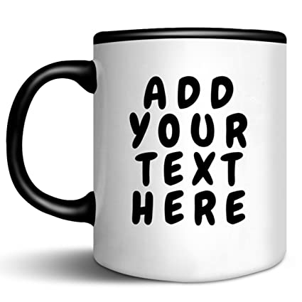 amazon com custom coffee mugs add your name text letters