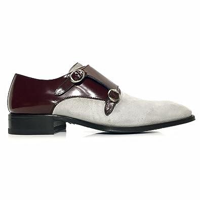 92b8c756fb Mezlan Custom Men s Double Monk Strap Shoes Grey US ...