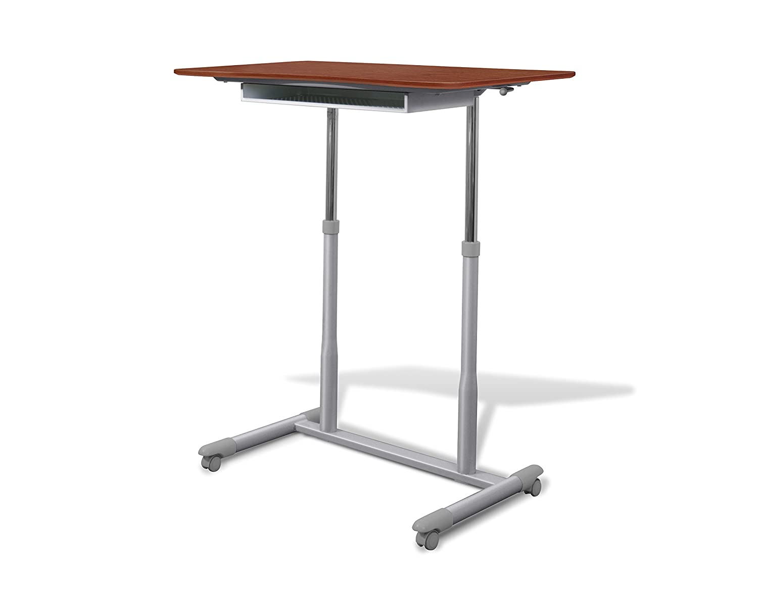 amazoncom unique furniture 205ch height adjustable sit stand desk with cherry top kitchen u0026 dining - Jesper Office