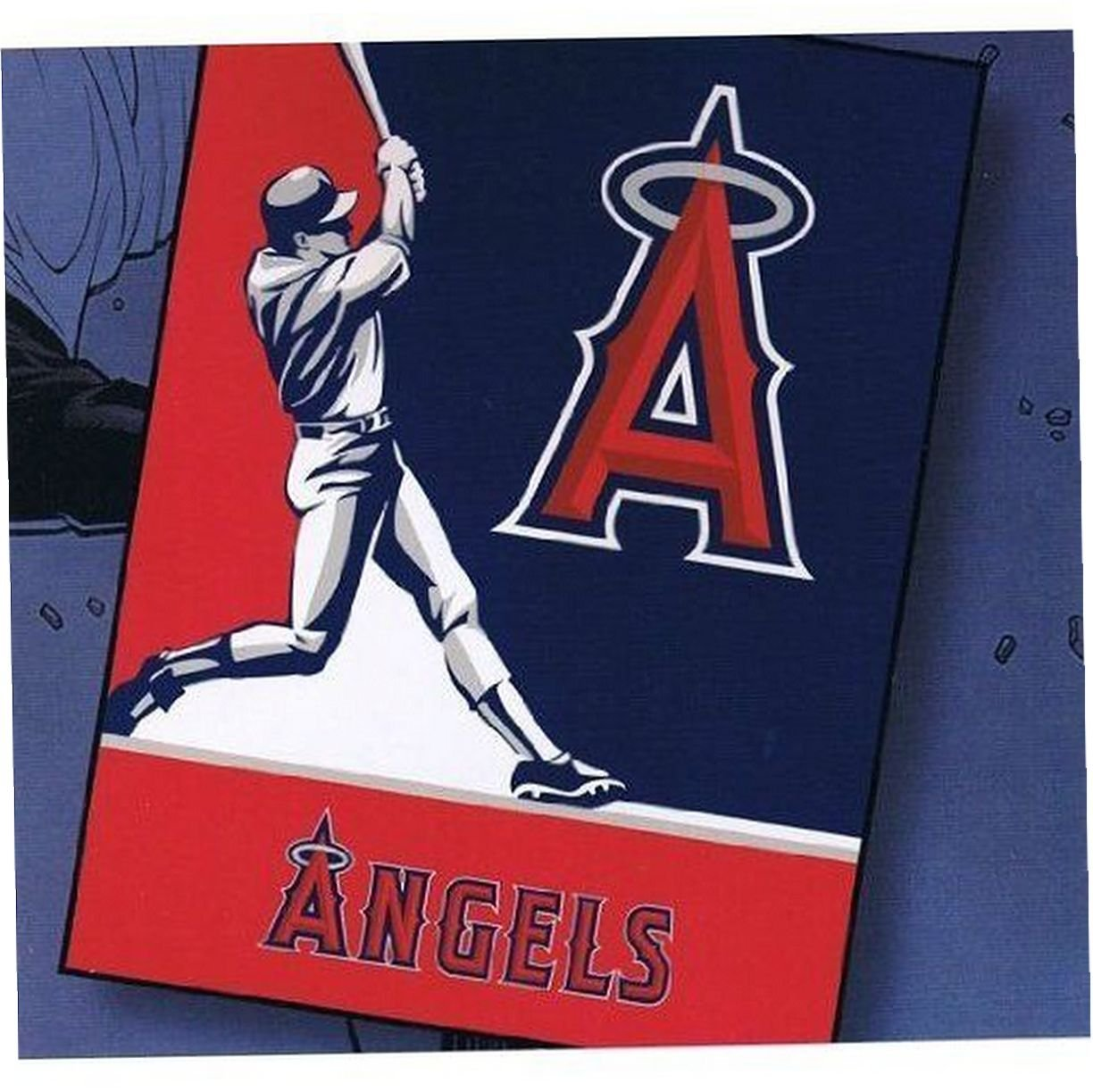 Los Angeles Angels Blanket throw king Size plush Oversized New