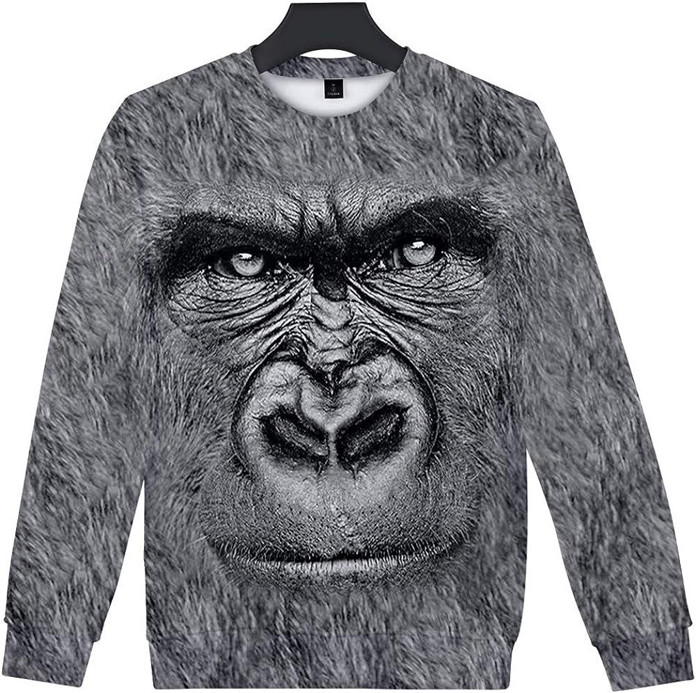 ZIGJOY Unisex Tier 3D-Druck Rundhalspullover Fun Sweatshirts Bedrucken mit Corgi Husky Bulldogge Labrado AFFE Elefant Tiger Adler und K/ätzchen f/ür Tierfreunde