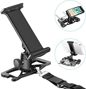 Neewer for DJI Mavic Pro, 4-12 Inches, Tablet and Mobile Phone Holder, Remote Controller Extender Mount, for Clip Smartphone, iPad, Tablet, 360-Degree Rotating (Black)
