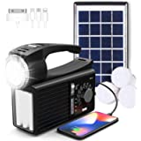 Raddy RF-L3 Camping Lantern Flashlight with Solar Panel, AM/FM/SW Shortwave Radio, Bluetooth/USB/AUX/TF Music Player, Phone C