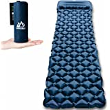 KOOLSEN Ultralight Sleeping Pad - Ultra-Compact for Backpacking, Camping, Travel w/Super Comfortable Air-Support Cells Design with integrated pillow