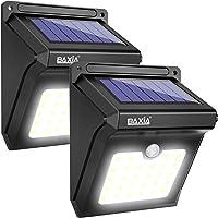 Lampe Solaire Extérieure, BAXiA 28LED Lumière Solaire Imperméable avec Détecteur de Mouvement Lampe de Sécurité pour Jardin, Escalier, Exterieur, Patio, Terrasse Nouvelle Version (400LM, Lot de 2)