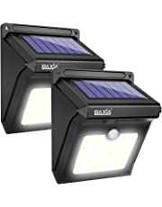 BAXiA Solar Lights 28 LED,Upgraded Solar Powered Security Lights,Waterproof Wireless Motion Sensor Outdoor Lighting for Front Door,Outside Wall,Patio,Fence,Garden,Pathyway,Driveway (400LM,2 Packs)