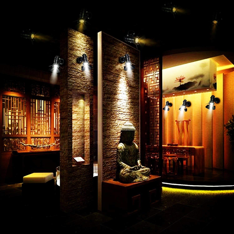JINYU Retro industriellen Rustikaler Wandleuchte aus Metal Beleuchtung E27 Fassung f/ür f/ür Dekoration von Haus Bar Restaurants Kaffee Club ohne Gl/ühbirne Energieklasse A+++