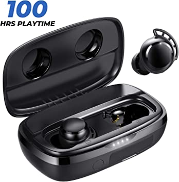 Amazon Com Tribit Flybuds 3 Wireless Earbuds 100h Playtime 2600mah Charging Case Ipx7 Waterproof Usb C Touch Control Bluetooth 5 0 Earbuds Deep Bass True Wireless Earbuds With Mic For Sport Travel Black Electronics
