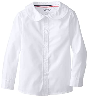 f059e169f48994 Amazon.com: French Toast Girls' Long Sleeve Peter Pan Blouse: Clothing