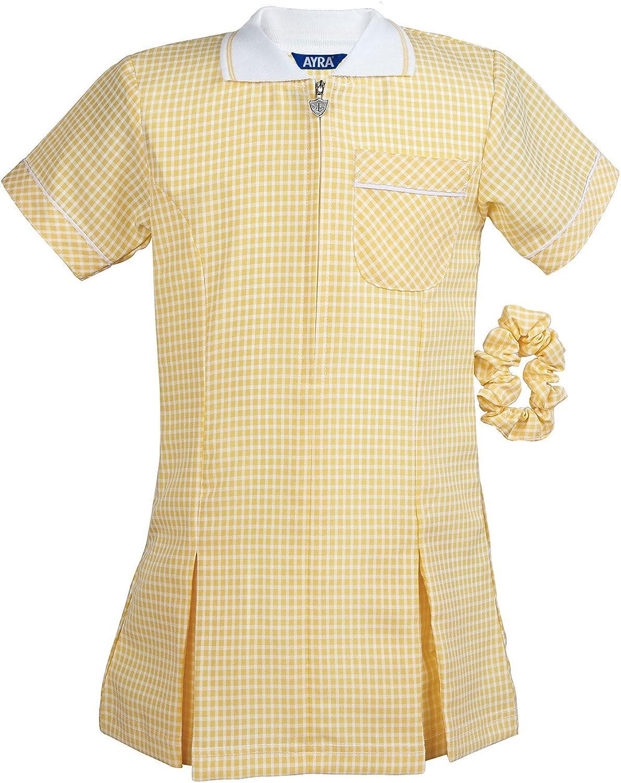 Girls School Gingham Summer Dress Age 3 4 5 6 7 8 10 12 14 16 18 20 Ayra