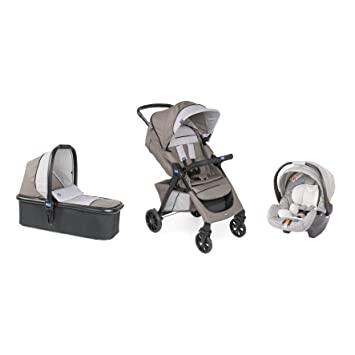 af05d0ed2f8 Trio Kwik.One Stroller + Carrycot + Moka Car Seat - Chicco: Amazon.co.uk:  Baby