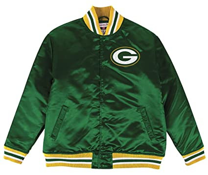 separation shoes 1dc74 6da8b Mitchell & Ness Green Bay Packers NFL History Premium Satin Jacket