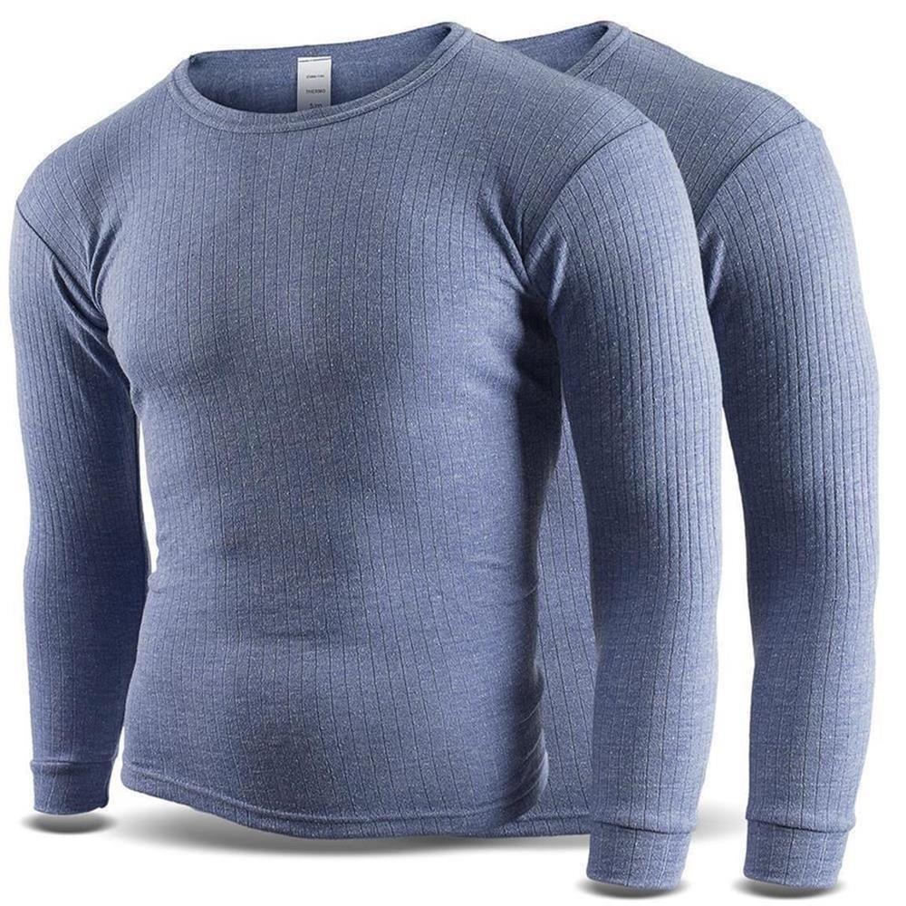 2pezzi Maglietta termica da uomo–Maniche lunghe con interno in pile noorsk