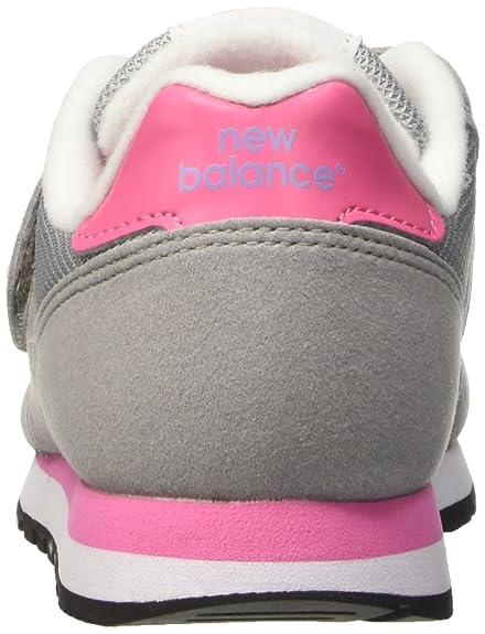 New Balance NBKV373FLP, Scarpe da Ginnastica Unisex bambini, Grigio (Grey Pink), 34 1/2 EU