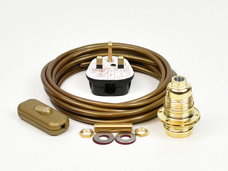 Amazon Com Amz885 Table Desk Lamp Wiring Kit Brass Bulb