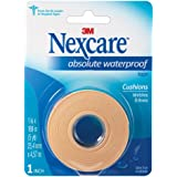 Nexcare Absolute Waterproof First Aid Tape, Cushioned Protection, 1-Inch x 5-Yard Roll (Pack of 6)