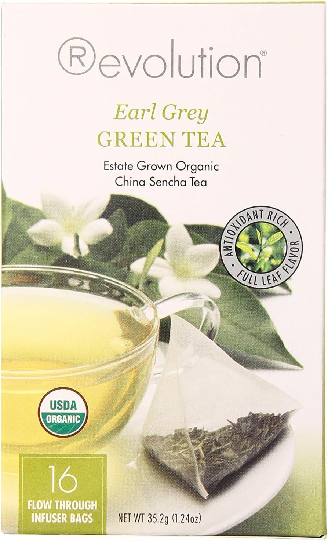 Revolution Tea, Earl Grey Green, Infuser Bags, 16-count (Pack ...