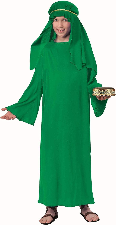 Amazon.com: Biblical Times Pastor disfraz traje verde, Niño ...