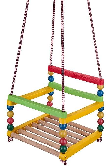 Kinderschaukel Aus Holz Und Kunststoff Drinnen Und Draussen Schaukel