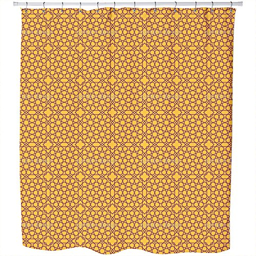 Uneekee Islamic Stars Shower Curtain: Large Waterproof Luxurious Bathroom Design Woven Fabric by uneekee