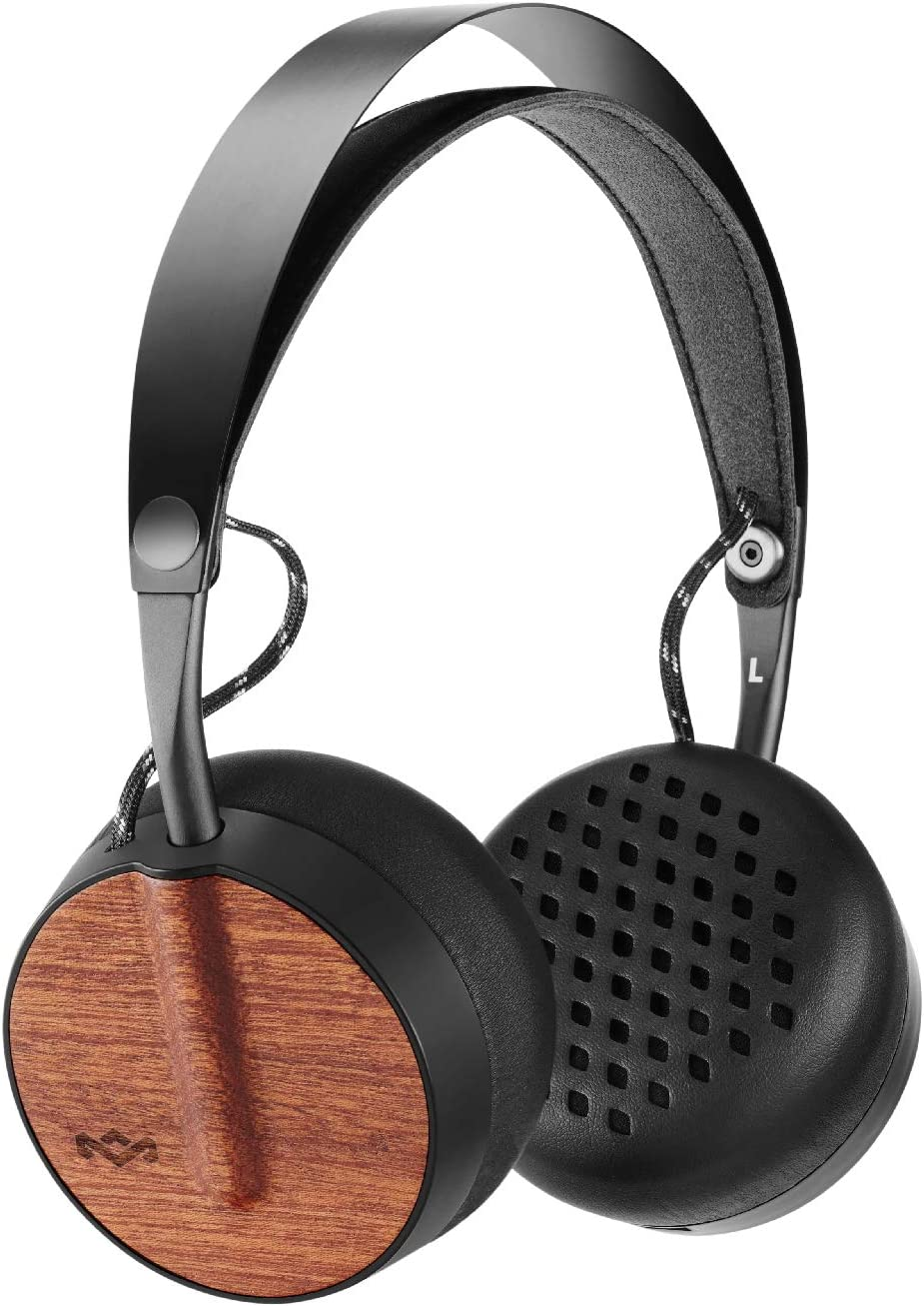 House of Marley Buffalo Soldier Bluetooth Over Ear Headphones with a Microphone, Black