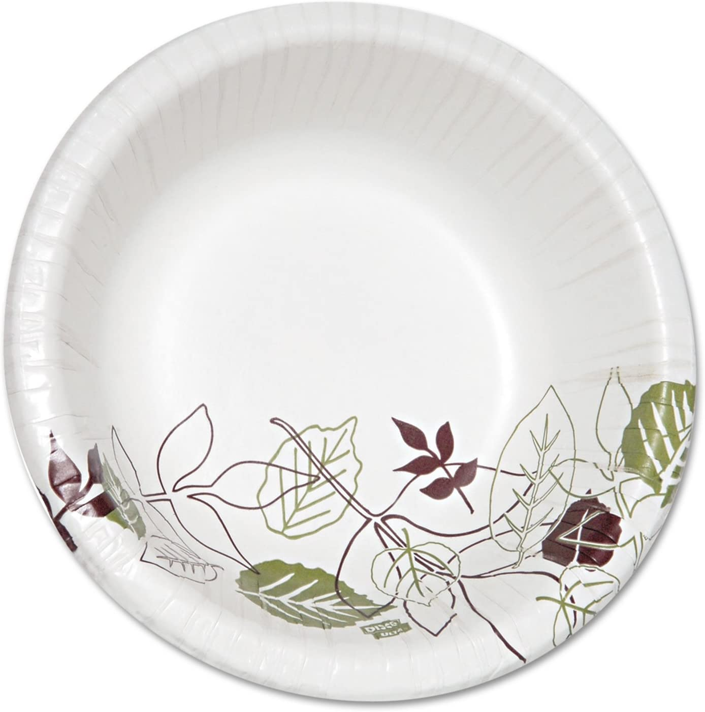Dixie Ultra Pathways Heavyweight Paper Bowls, 20oz, White/Green/Burgundy, 125/Pack