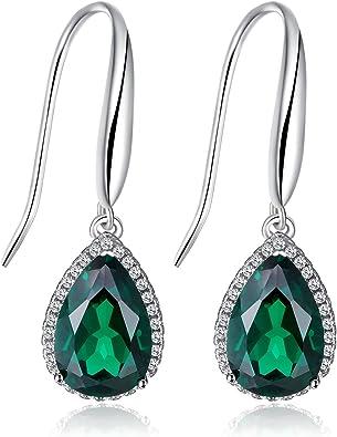 Sterling Silver Bracelet with 5 stone Imitation Emeralds 5 round stones