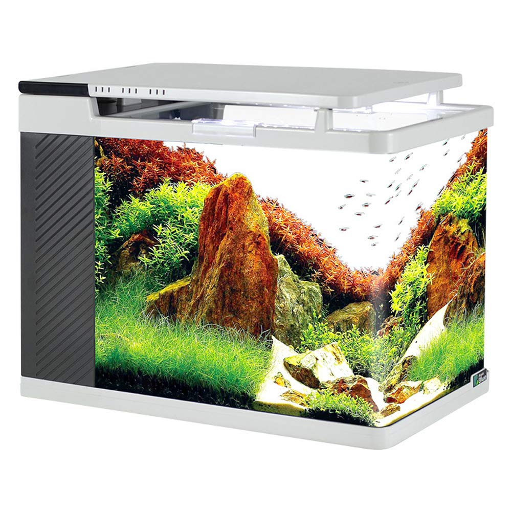 Aquarium Fish Tank, Side Filter Ecological Fish Tank, high-Definition Glass hot Curved Corners, Small Home Decoration