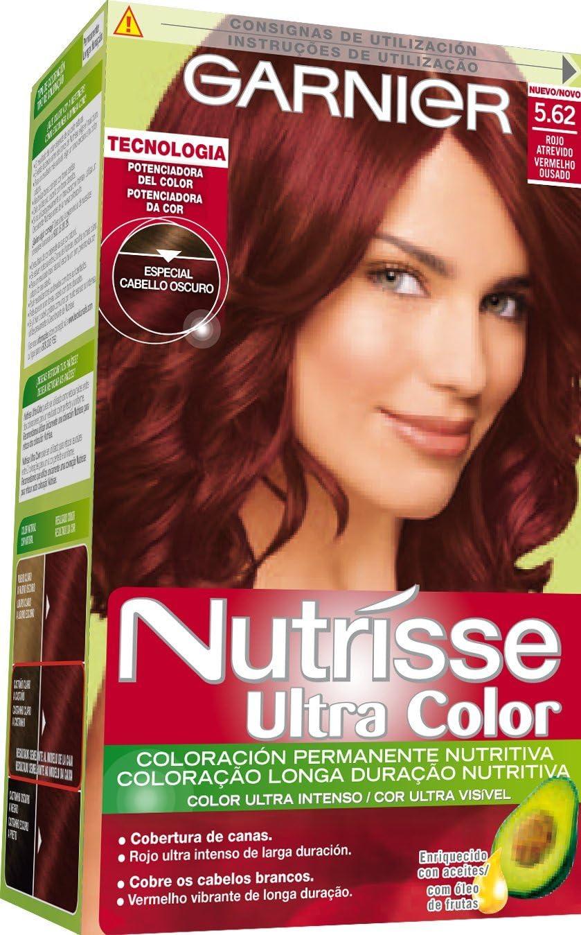 Garnier Nutrisse Coloración, Tono: 5.62 Caoba Rojizo -1 ...