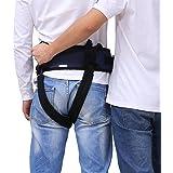 介助用 ベルト 介護リハビリ歩き補助ベルト 取手付き [車いす 入浴 移動 サポート] (ブルー)