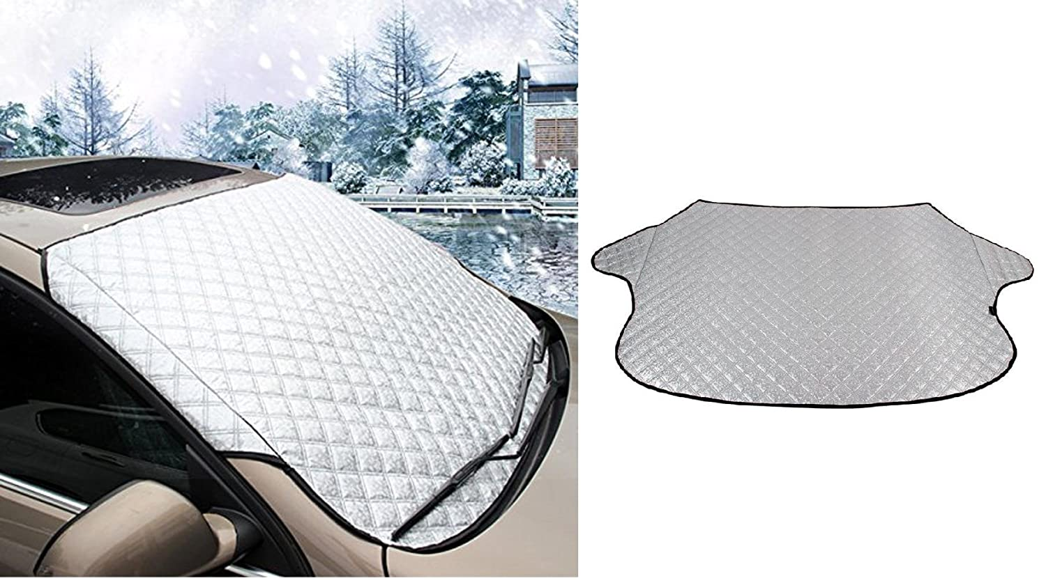 Car Windshield Snow Cover /& Sunshade Protector All Weather 52 Weeks a Year Dependable Industries inc