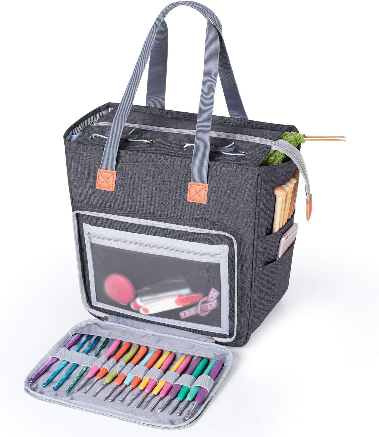 Luxja Knitting and Yarn Storage &Organizer Bag