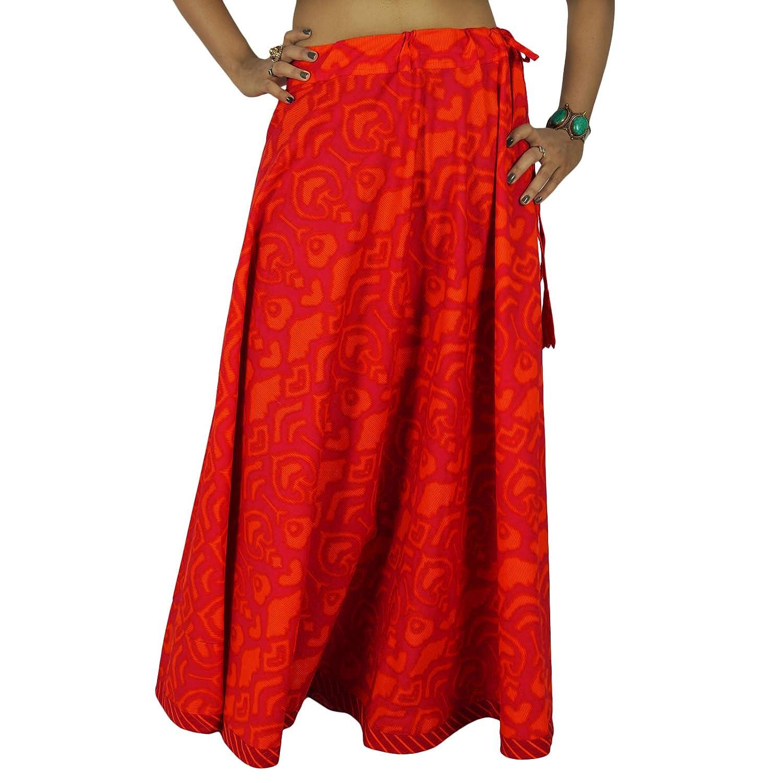 indische Frauen tragen Kleidung aus Baumwolle Rock beach wear boho Spitze