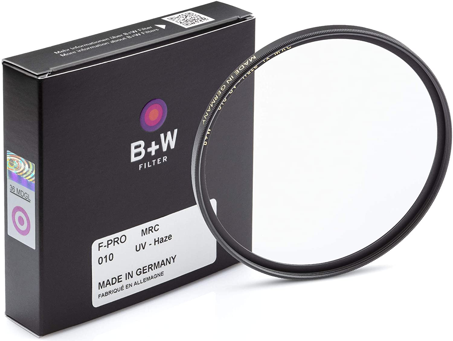 B + W 40.5mm UV Protection Filter (010) for Camera Lens – Standard Mount (F-PRO), MRC, 16 Layers Multi-Resistant Coating, Photography Filter, 40.5 mm, Clear Protector