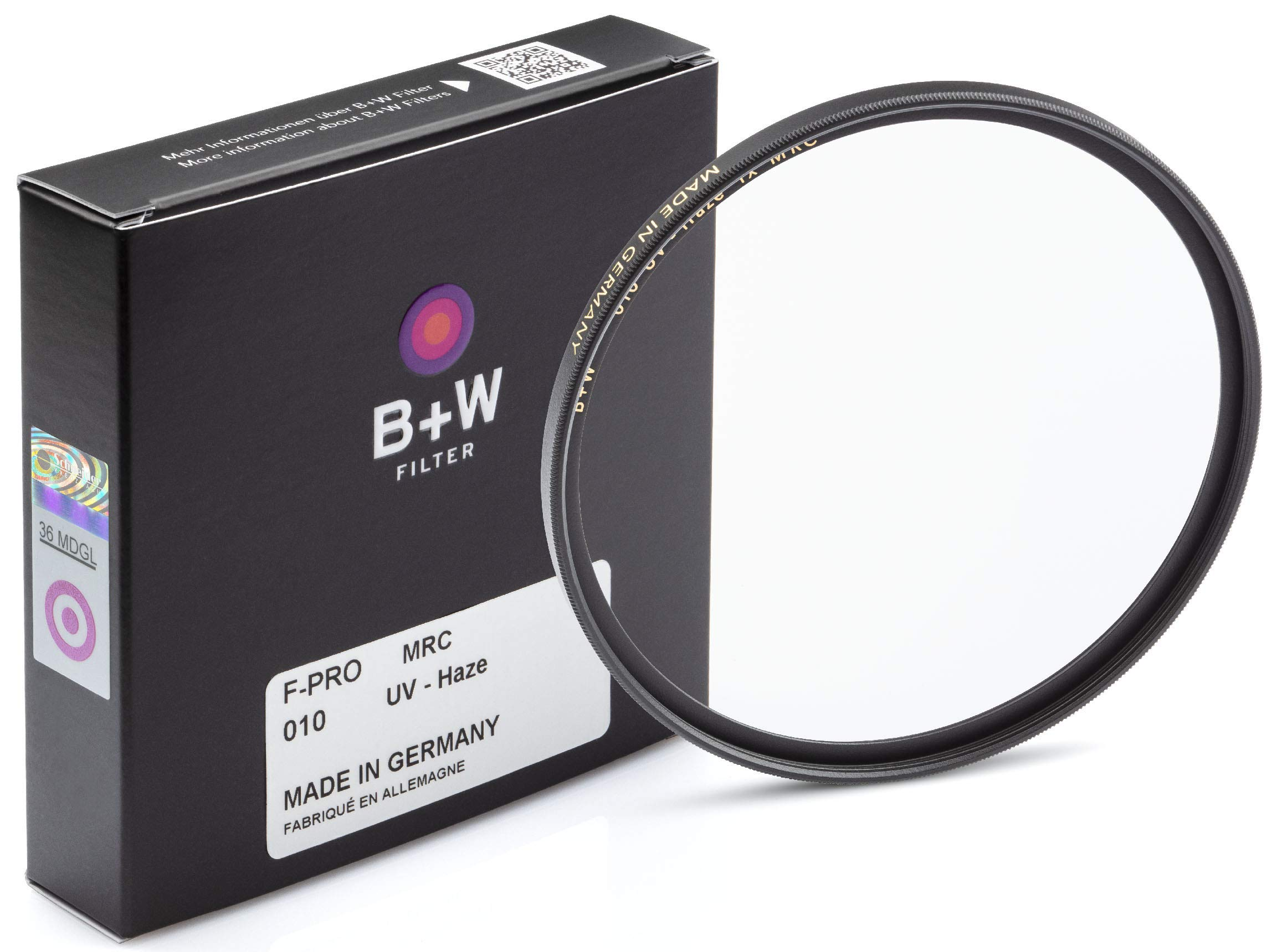 B + W 82mm UV Protection Filter (010) for Camera Lens – Standard Mount (F-PRO), MRC, 16 Layers Multi-Resistant Coating, Photography Filter, 82 mm, Clear Protector