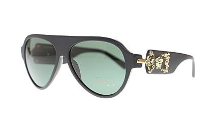 Versace Mens Pilot Sunglasses VE4323 507971 Sand Black//Grey Green Lens 58MM Authentic