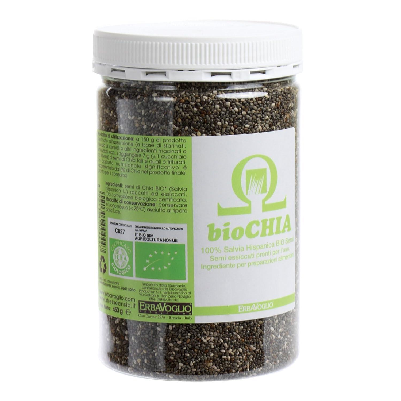 Erbavoglio Semillas de Chia - 450 gr: Amazon.es ...