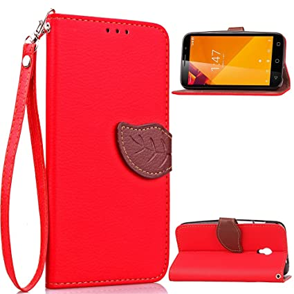 AICEDA Vodafone Smart Turbo 7 Case,[ Shock Absorbent ] Surface PU Leather Kickstand Wallet