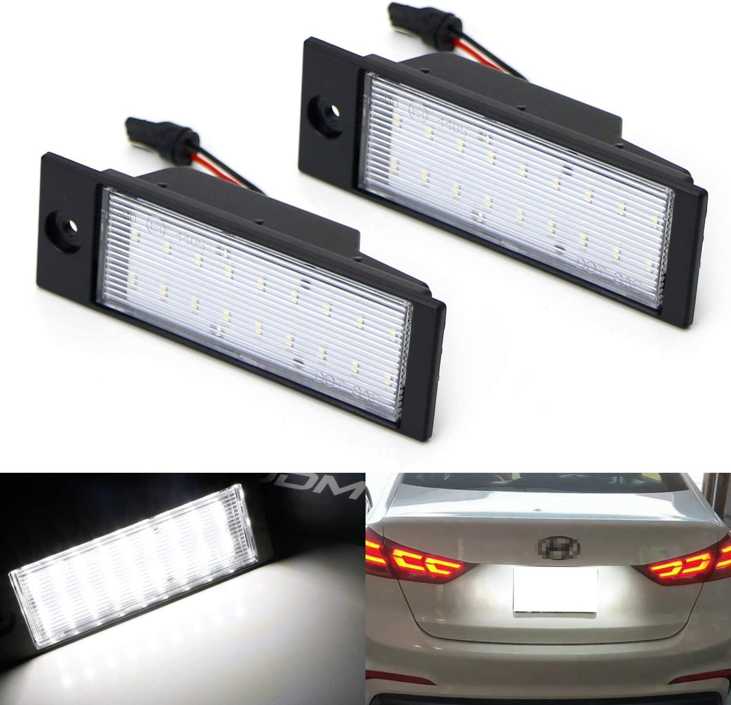 Fits Hyundai Tucson White 4-LED Xenon Bright ICE Side Light Beam Bulbs Pair