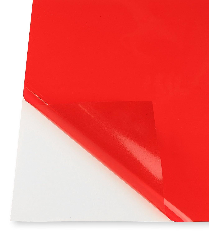 5 Pack - Adhesive Backed Transparent Rigid Vinyl Film, Tinted ...