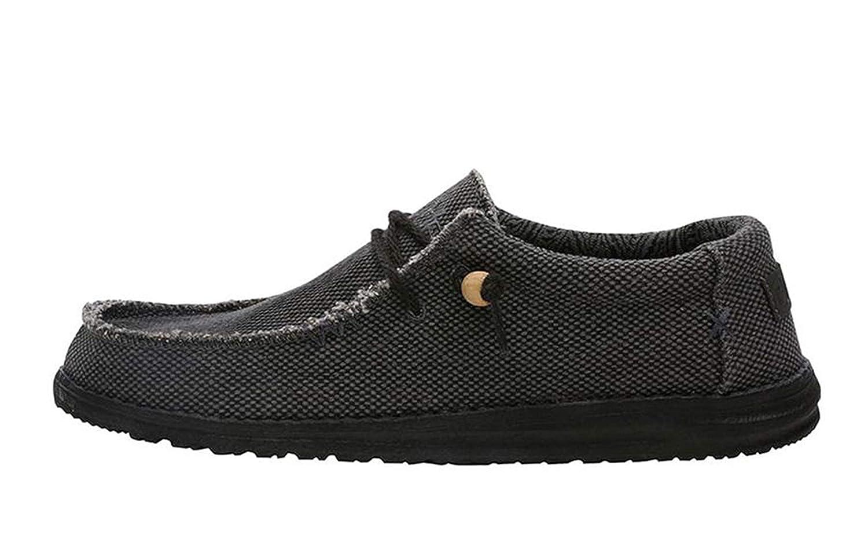 Dude Shoes Hommes Wally Naturel Noir