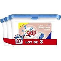 Skip Lessive Capsules Duo Sensitive Peaux Sensibles & Bébés 87 Lavages (Lot de 3x29 Lavages)