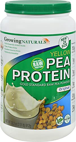 Growing Naturals Pea Protein Powder – Original Flavor – 32.2 oz